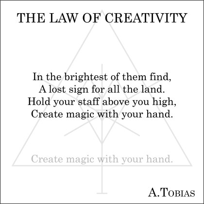 2018.12.26- The Law of Creativity